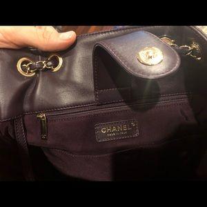 CHANEL Bags - Chanel bucket back. Dark purple.
